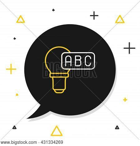 Line Creative Lamp Light Idea Icon Isolated On White Background. Concept Ideas Inspiration, Inventio