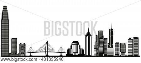 Hong Kong Skyline With Tower And Bridge