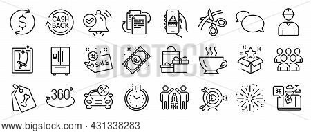Set Of Business Icons, Such As Messenger, Bureaucracy, Time Icons. Full Rotation, Loyalty Program, D