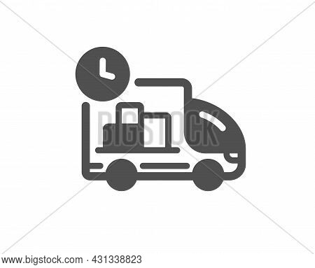 Delivery Icon. Truck Service Sign. Express Shipment Symbol. Classic Flat Style. Quality Design Eleme