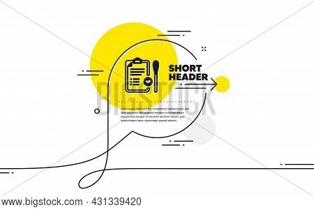 Nasal Swab Test Passed Icon. Continuous Line Chat Bubble Banner. Report With Cotton Swab Sign. Coron