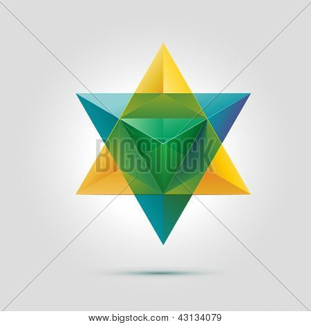 Merkaba or star of David, vector illustration