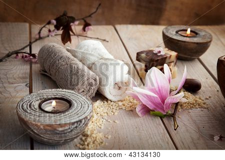 Spa Setting With Beauty Products