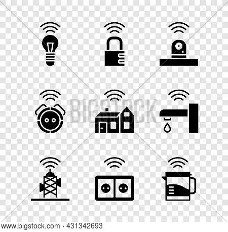Set Smart Light Bulb, Safe Combination Lock, Security Camera, Wireless Antenna, Electrical Outlet, K