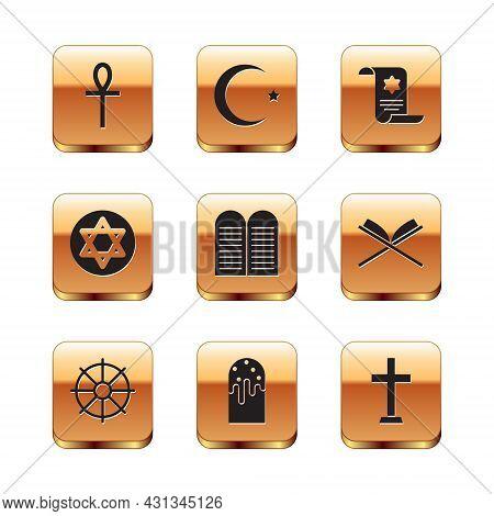 Set Cross Ankh, Dharma Wheel, Easter Cake, The Commandments, Star Of David, Torah Scroll, Christian