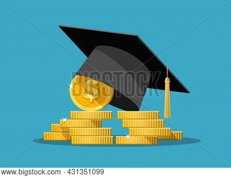Education Grant. Expensive Education, School And Money, Wealth And Tuition, Finance Fee And Study Ve
