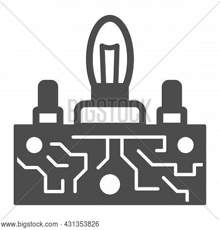 Lampas Pcb Control Solid Icon, Electronics Concept, Printed Circuit Board Lamps Vector Sign On White