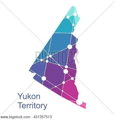 Map Of Yukon. Concept Of Travel And Geography Of Canada.