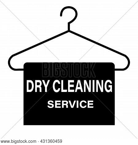 Dry Cleaning Service Icon On White Background. Dry Cleaning Sign. Laundry Service Symbol. Flat Style