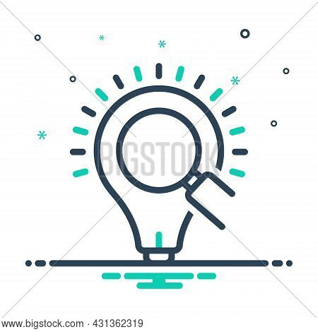 Mix Icon For Insight Bulb Led Idea Electrical Electricity Creativity