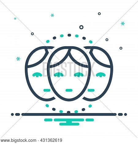 Mix Icon For Relative Family Relation Ancestry Cognate Connection People Person Human Identity