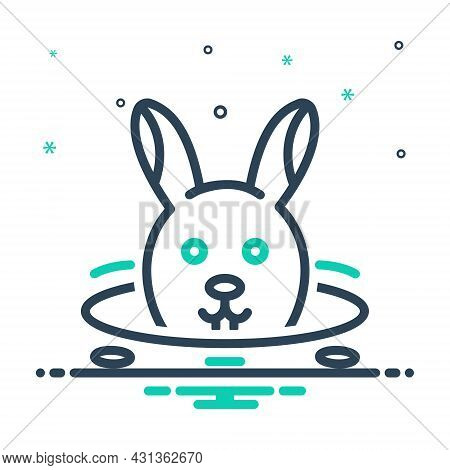Mix Icon For Rabbit-in-burrow Rabbit Burrow Hole Bunny Hide Animal Pet Cute Funny