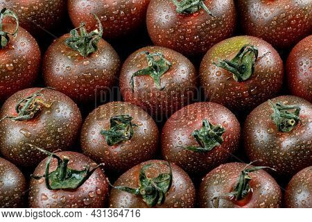 Black Tomatoes. Tomato Background. Cherry Tomatoes. Tomato Cumato.