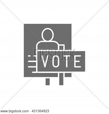 Presidential Election Poster, Voting Banners, Demonstration, Protest Grey Icon.