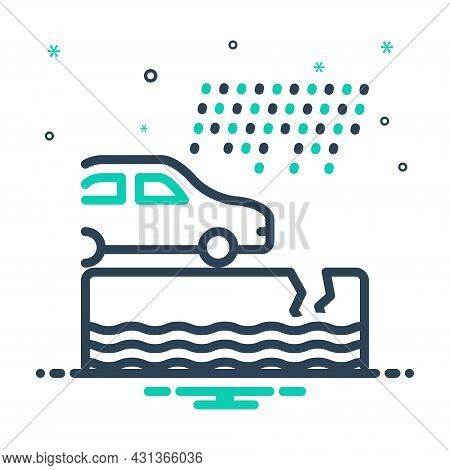 Mix Icon For Instance Example Paradigm Car Rain Event Incident Occurrence Case