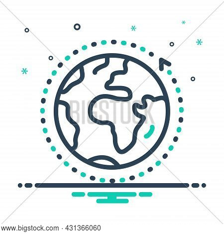 Mix Icon For Overall Entire World Global Communication Around Earth Ecology Comprehensive