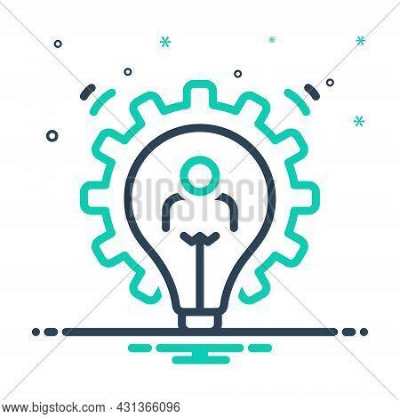 Mix Icon For Development Evolution Cog Lightbulb Growth Programmer Marketing Optimization Planning S