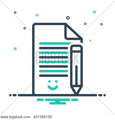 Mix Icon For Phrase Expression Protasis Clause Expression Idiom Write Wording Note