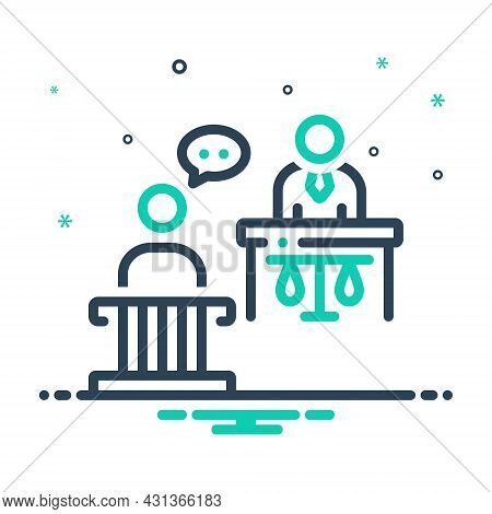 Mix Icon For Witness Testify Authority Court Courthouse Crime Desk Harassmenti Judgement Justice Swe