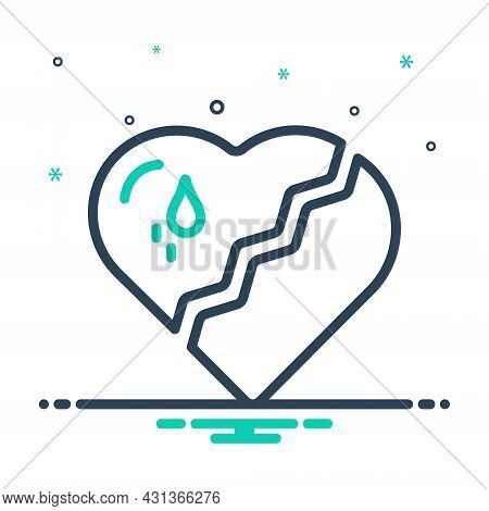 Mix Icon For Broken-heart Broken Heart Love Split Crack Relationship Cheating Breakup Hate Valentine