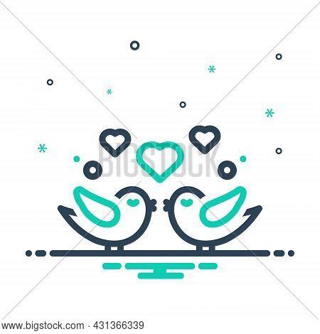 Mix Icon For Loving-birds Loving Birds Love Heart Kiss Wedding Couple Pair Romance Romantic Valentin