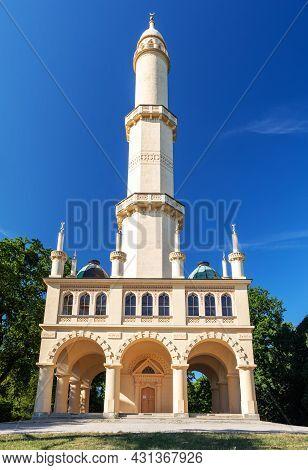 Minaret In Valtice Lednice Area, In Lednice Castle Park, Czech Republic