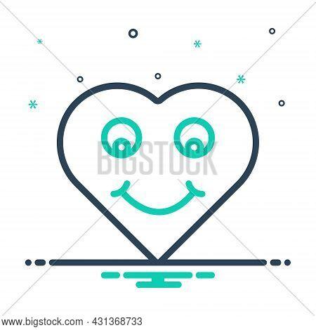 Mix Icon For Wonderful Amazing Lovely Delightful Fabulous Heart Smile Awesome Emoji Face Emoticon