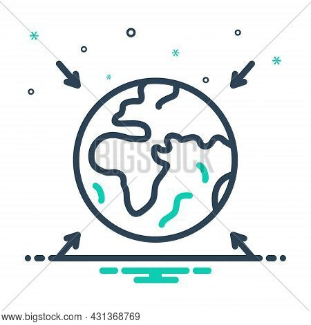 Mix Icon For Entire Totall Overall Thorough Exhaustive Full World Earth Globe