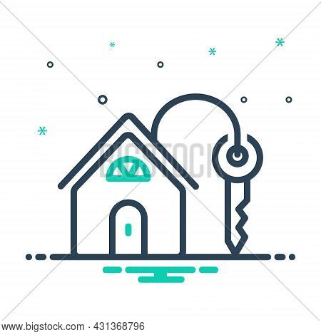 Mix Icon For Own Personal Mine Property Mortgage Property Real-estate Architecture Lock