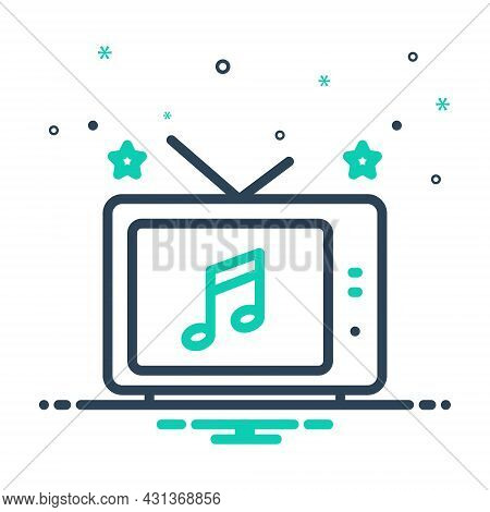 Mix Icon For Entertainment Tv Old-television Analog Antenna Antique Television Broadcast Broadcastin