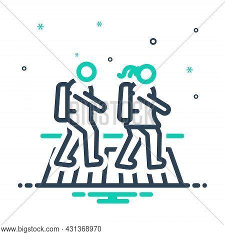 Mix Icon For Child-cross-zebra-crossing Pedestrian Child Cross Student People Zebra Crossing Street
