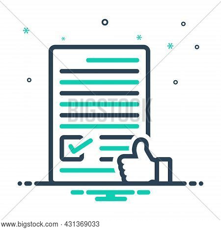 Mix Icon For Agree Concur  License Consent Permit Terms Conditions Approve Accept Agreement Document