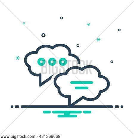 Mix Icon For Dialogue Chat  Messaging Blog Bubble Discussion Conversation Notification