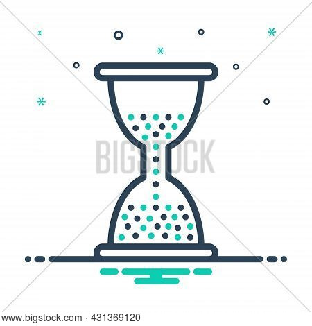 Mix Icon For Remain Hourglass Sandglass Sand Hour Timer Countdown Instrument Wait