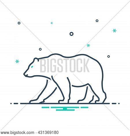 Mix Icon For Bear Omnivores Badge Mammal Fauna Predator Wild Nature Animal Jungle Wildlife Zoo