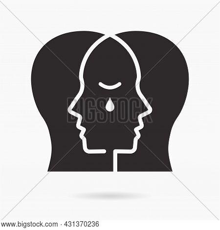 Empathy Icon On White Background. Vector Illustration.