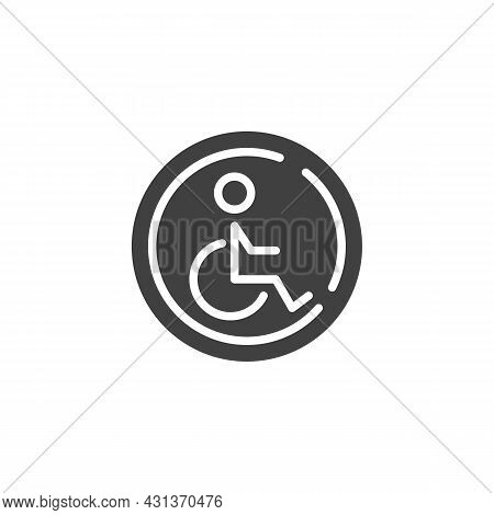 Disabled Person Parking Vector Icon. Filled Flat Sign For Mobile Concept And Web Design. Disabled Pa