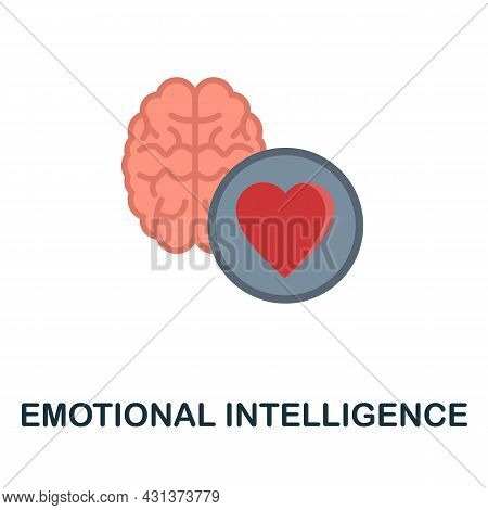 Emotional Intelligence Flat Icon. Colored Sign From Personality Collection. Creative Emotional Intel