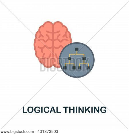 Logical Thinking Flat Icon. Colored Sign From Personality Collection. Creative Logical Thinking Icon