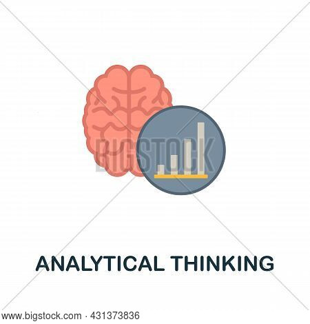 Analytical Thinking Flat Icon. Colored Sign From Personality Collection. Creative Analytical Thinkin