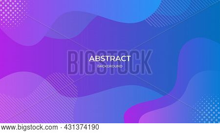 Abstract Geometric Background With Liquid Composition And Purple Gradient