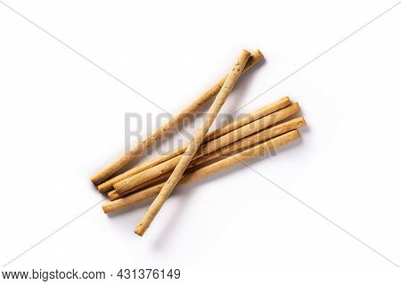 Breadstick Grissini Snack Isolated On White Background