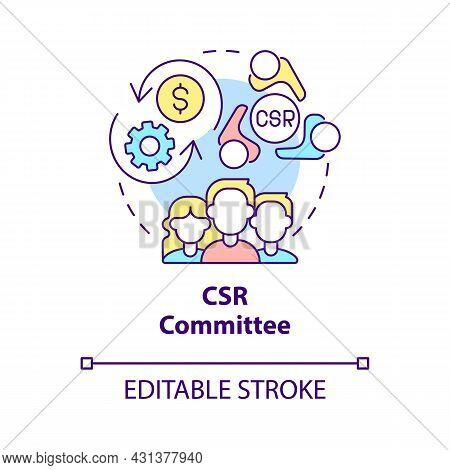 Csr Committee Concept Icon. Board Of Directors Abstract Idea Thin Line Illustration. Corporate Socia