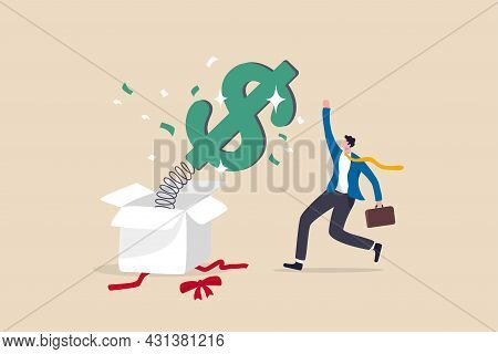 Surprise Money Or Reward, Bonus Or Salary Raise, Investment Profit, Dividend Or High Return Stock, L