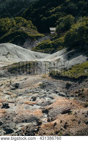 Warm And Desolated Ground Created By The Geothermal Activities