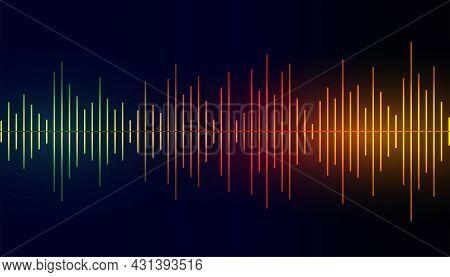 Sound Frequency Equalizer Colorful Background Vector Design Illustration