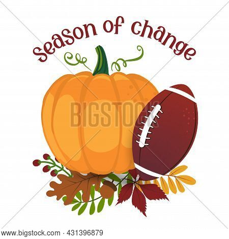 Tis The Season To Be Basic - Hand Drawn Vector Illustration. Autumn Color Poster. Lovely Lettering Q