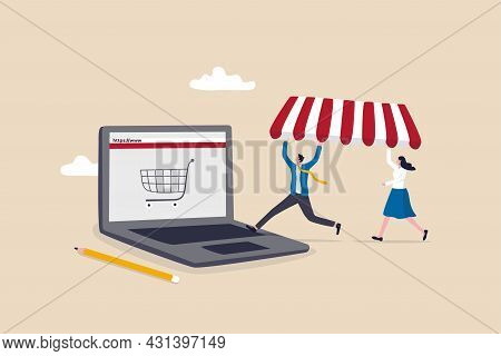Open Shop Online, Start E-commerce Store Selling Product Online, Build Website Create Virtual Store