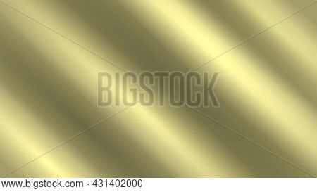 Abstract Golden Background With Waves. Vector Minimal Background