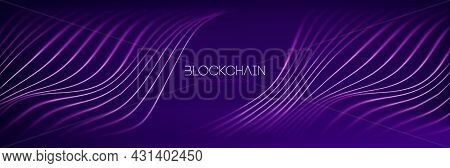 Blockchain Technology Background. Abstract Finance Internet Technology And Cryptocurrency Exchange.